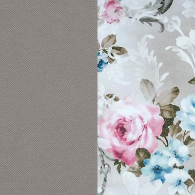 Светло-серый / Розы, велюр