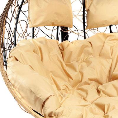 Светло-коричневый, ротанг / Бежевый, ткань