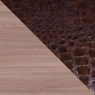 Ясень Шимо темный / Искусственная кожа caiman