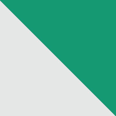 Белый, металл / Зеленый, ткань