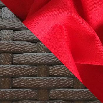 Коричневый, ротанг / Красный, ткань