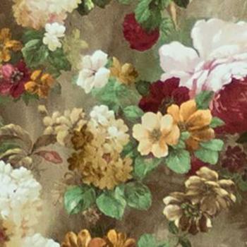 Яркие цветы, велюр