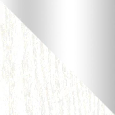 Белый / Патина серебро