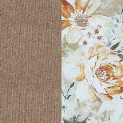 Песочный / Коричневые цветы, велюр