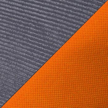 Черный, сетка / Оранжевый, ткань