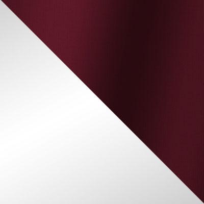 Белый, ротанг / Бордовый, ткань