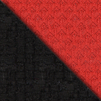 Ткань черная/красная, 2603/493