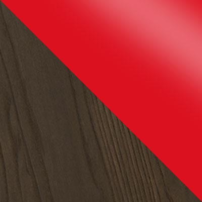 Красный, глянец / Темное дерево