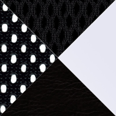 цвет Черная сетка/белый пластик/Черная ткань TW+иск. черн. кожа