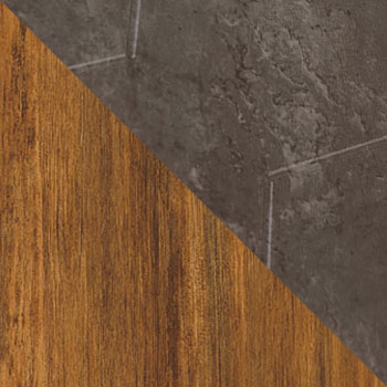Дуб американский / Серый бетон
