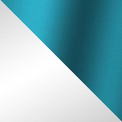 Белый, ротанг / Бирюзовый, ткань