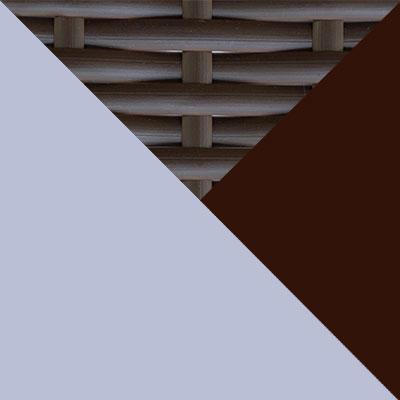 Коричневый, металл / Коричневый, иск. ротанг / Серый, ткань