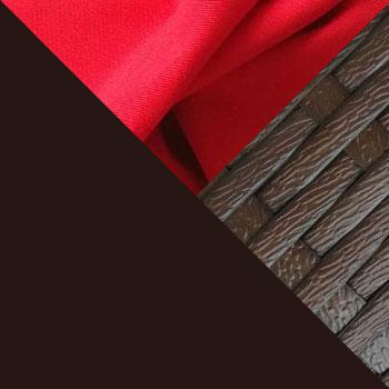 Коричневый, металл / Коричневый, ротанг / Красный, ткань