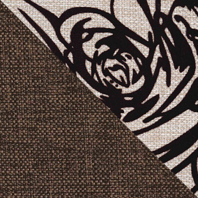 Модерн коричневый, рогожка / Rose 2, рогожка