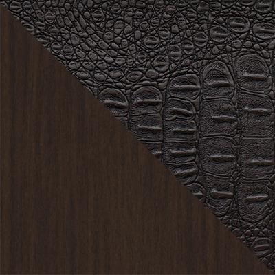 Венге / Коричневый аллигатор 218, иск. кожа