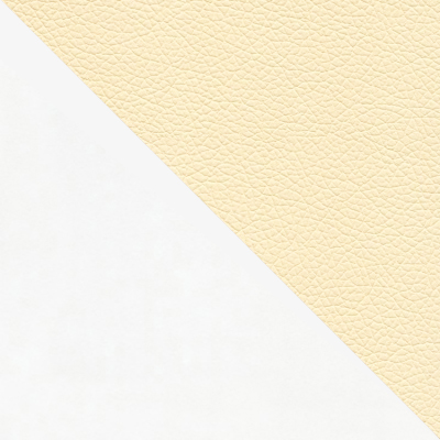 Белый / Бежевая Экокожа