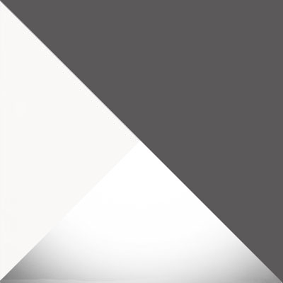 Белый шагрень / Белый глянец / Серый графит
