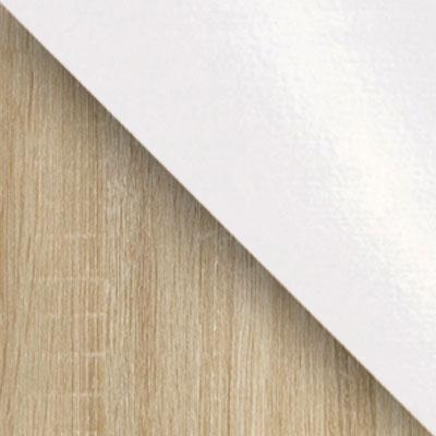 Дуб сонома / Белый глянец