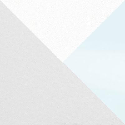 Каркас белый / Стекло белое / Белый матовый шагрень, пленка ПВХ