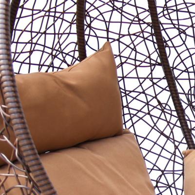 Коричневый иск. ротанг/Коричневая подушка