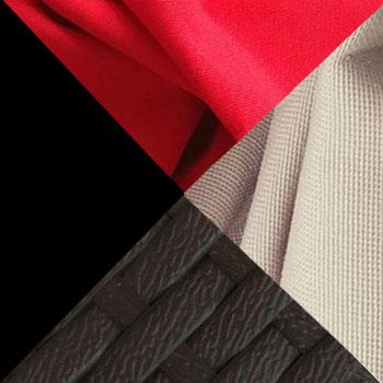 Черный, металл / Коричневый, ротанг / Красно-бежевый, ткань