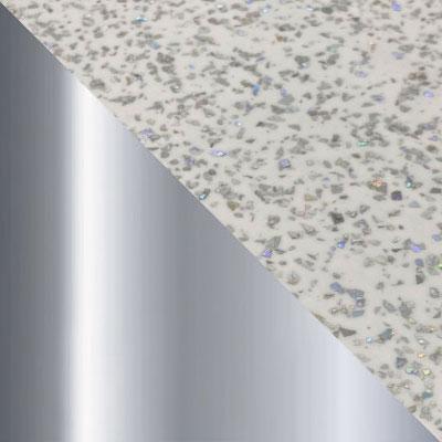 Андромеда, белый глянец, пластик / Хром, металл