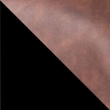 Коричневый, экокожа / Черный
