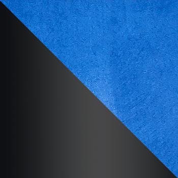 HLR-65 Королевский синий, велюр / Черный матовый