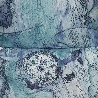 Ткань «Карта на синем»