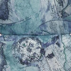 цвет Ткань «Карта на синем»