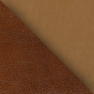 Бежевая ткань / Коричневая кожа