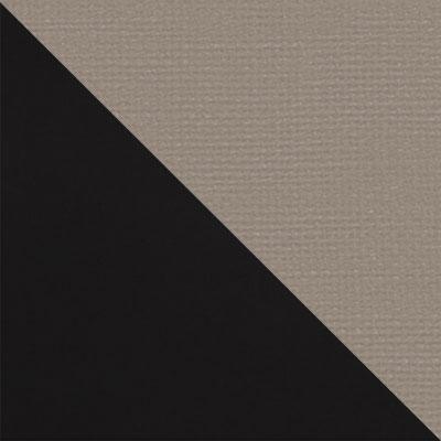 Черный матовый / Бежевый микровелюр