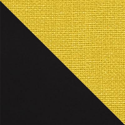 Черный матовый / Желтый микровелюр