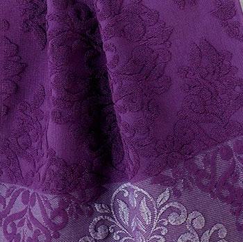 Фиолетовый, с бахромой