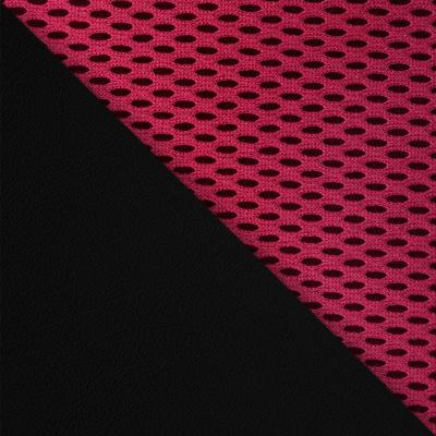 Иск. кожа черная / Ткань бордо, 36-6/13