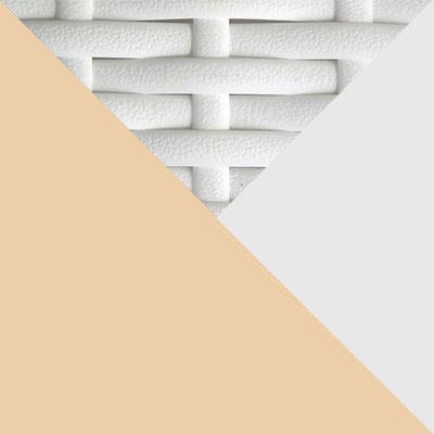 Белый, металл / Белый, иск. ротанг / Бежевый, ткань