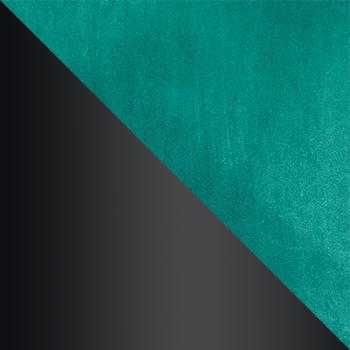 HLR-56 Изумрудный, велюр / Черный матовый
