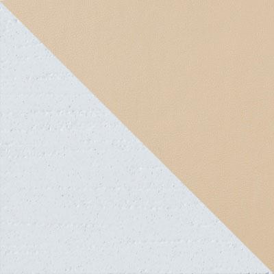 Каркас эмаль белая / Сиденье Nitro Cream, кожзам
