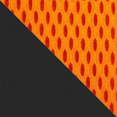 Иск.кожа черная / Ткань оранжевая, 36-6/07