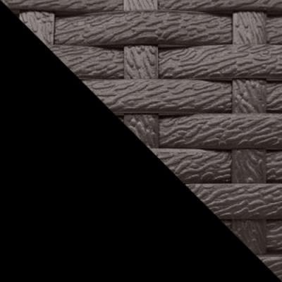 Черный, металл / Коричневый, ротанг