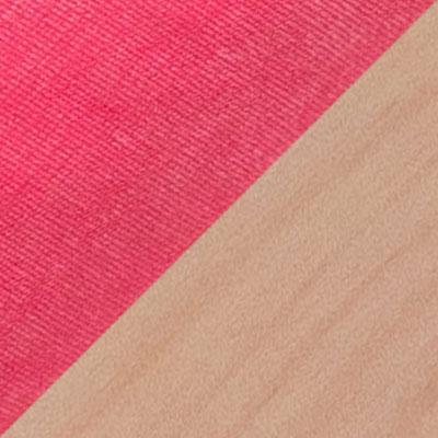 Розовый, вельвет Люкс 36 / Белая береза
