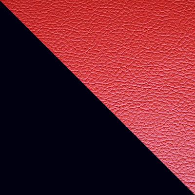 Черный / Красный кожзам