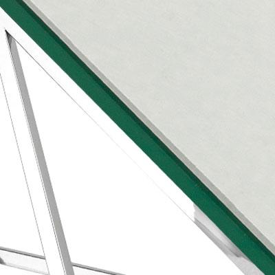 Прозрачное стекло / Сталь, серебро