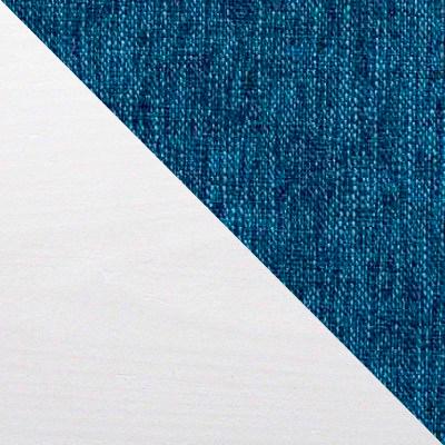 Белая эмаль / Синий, рогожка