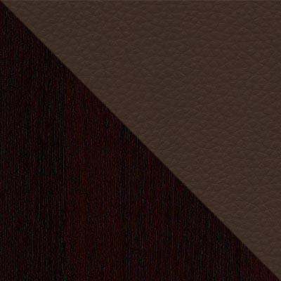 Темно-коричневый / Коричневый, экокожа