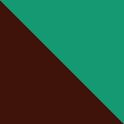 Коричневый, металл / Зеленый, ткань