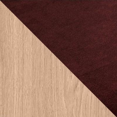 Темно-коричневый, велюр / Натуральный