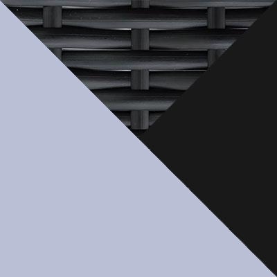 Черный, металл / Черный, иск. ротанг / Серый, ткань