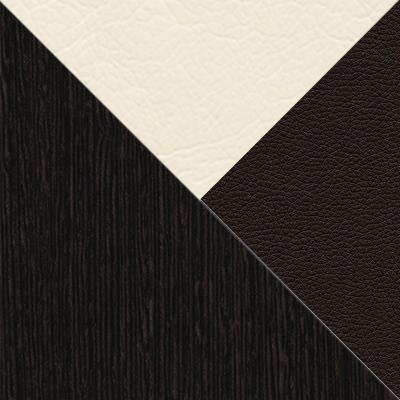 Венге / Крем, коричневый, кожзам