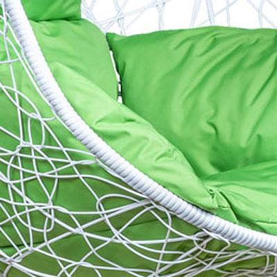 Белый, ротанг / Зеленое яблоко, ткань